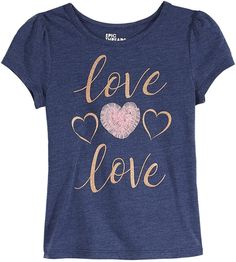 Epic Threads Toddler Girls Love T-Shirt, Created for Macy's Kids Outfits Girls, Toddler Outfits, Girl Outfits, Toddler Girls, Kids Clothes Sale, Kids Clothing, Graphic Tee Outfits, T Shirt Painting, Love Shirt