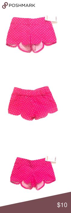 "🌹 HP NWT Gymboree Toddler Girls Pink Shorts 2T 🌹 Host Pick for Everything Kids Party 8-31-16 Chosen by @califashtrends ❤️ NWT Gymboree Toddler Girls Pink and White Polka Dot Shorts Size 2T. Front Pockets. Elastic waistband on back of shorts. Material is 100% Cotton. Machine Wash Cold. Measurements on Size Tag: Age 2 years. Height 33""-36""/84-91.5 cm. Weight: 30-32 lbs/13.5-14.5 kg. 🚫 NO TRADES🚫 Gymboree Bottoms Shorts"