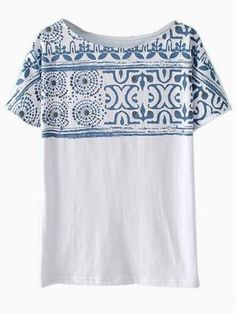 Tribal print loose fit tee