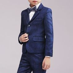 d6d38b02d6f3 Snow Castle Kids Plaid Buttoned Vest/ Dress Pants/ Blazer/ Shirt/ Bow Tie/  Brooch/ Pocket Square/ Set