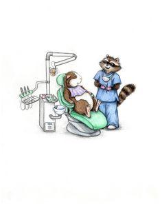 A Trip to the Dentist Guinea Pig Art Print via Etsy.