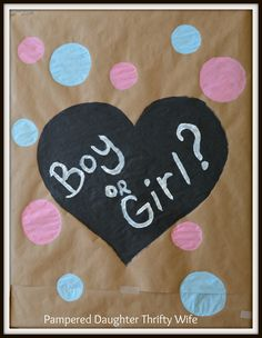 Pampered Daughter Thrifty Wife: How to make a simple Gender Reveal Box!