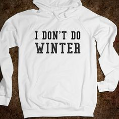i don't do winter sweatshirt. WANT