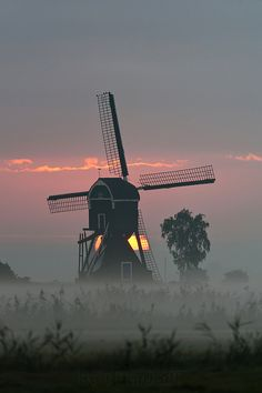 Windmill in Herwijnen, The Netherlands