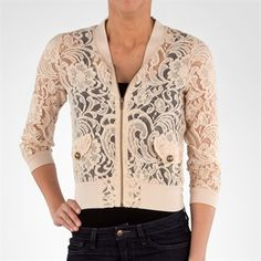 Love on a Hanger Juniors Floral Lace Jacket with Full Zip #VonMaur #SpringFashion