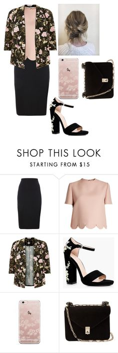 """""""secretary"""" by myimagez ❤ liked on Polyvore featuring Valentino and Boohoo"""