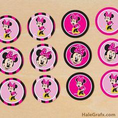 Minnie: Kit para Imprimir Gratis.