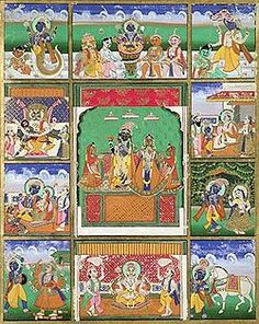 10 Avatars of Vishnu  Painting from Jaipur  now at The Victoria and Albert Museum