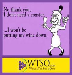 No thank you! #Wine