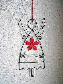 Dekorácie - anjel vianočný - 6051191_