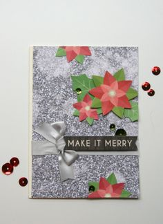 Make It Merry Card by Jaclyn Rench featuring Jillibean Soup Holly Berry Borscht