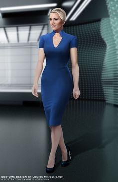 Kate Winslet - Insurgent Concept Art - Divergent - Erudite - Jeanine Matthews // Costume Illustration by Greg Hopwood