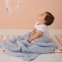 Tricoter une couverture toute douce pour bébé  Knit a soft baby blanket