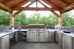 Outdoor kitchen  #PinMyDreamBackyard