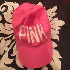 VICTORIA SECRET PINK HAT Cute pink Victoria's Secret hat Accessories Hats