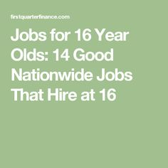 part time jobs for 16 year olds with no experience
