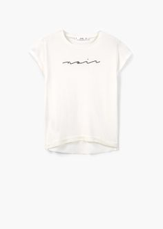 Camiseta mensaje modal - Camisetas de Mujer | MANGO España