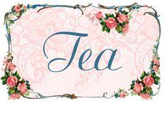 pretty tea label