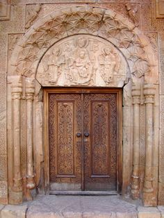 Noravank, Romanesque cathedral_door, Armenia, tympanum, dating from 12th century