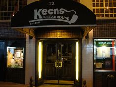 Keens Steakhouse: NYC. Recommended: Prime Rib