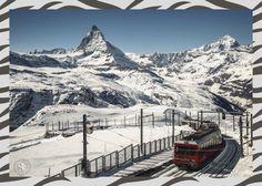 Die #Gornergratbahn. Streckenlänge: 9,34 km von Zermatt hoch auf den Gornergart auf 3099 m ü. M. #Zermatt - #Gornergrat eine Fahrt der Superlative! #Schweiz #Wallis #Valais Zermatt, Wallis, Switzerland, Mount Everest, Beautiful Places, Europe, Mountains, Country, Swiss Railways