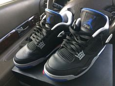 hot sales 61089 4fe36 Nike Air Jordan IV Retro 4 Alternate Motorsport Black Royal Men Size 11.5   fashion