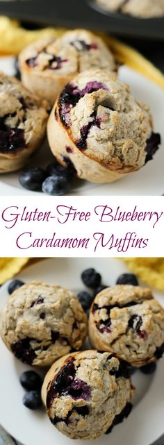 Blueberry Cardamom Cream Muffins - a bright way to start the morning! l Gluten-Free and Vegan l www.stephinthyme.com