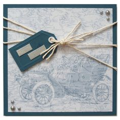 Handmade Old Car Birthday Card £3.00 by Helle Belles Cards