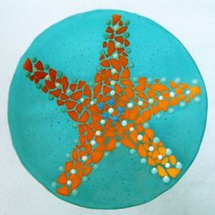 Tidal Reveal in Decorative Fused Art Glass at Windy Sea Designs