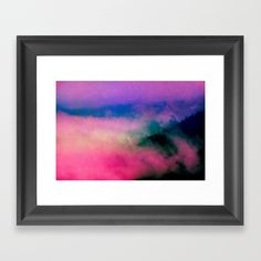 Fog Forest Mountain - Pink Rainbow Northern Lights Framed Art Print by cascadia Forest Mountain, Arctic, Framed Art Prints, Northern Lights, Rainbow, Artwork, Pink, Collection, Rain Bow