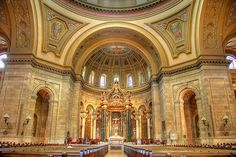 CATHOLIC CHURCH of ST. PAUL- Cathedral of Archdiocese of St. Paul & Minneapolis, USA (National Shrine)  239 Selby Ave, St Paul, MN 55102