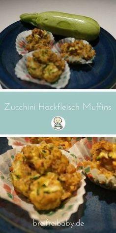 BLW Rezepte: Zucchini-Hackfleisch-Muffins für Babys ab dem 6. Monat - ein tolles breifrei Rezept für baby-led weaning Babys mit Fleisch. Muffins für Kinder sind so praktisch! #muffins #hackfleisch #blw #breifrei #baby-led weaning