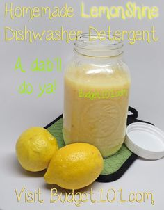 DIY Lemon Dishwasher Gel