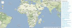 African Conservation Projects plotted on an interactive map (from Google Maps Mania).