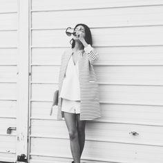 patterned coat, sleek top // yanyanchan  | @printedlove