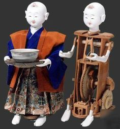 "Japanese antique model tea-serving robot""karakuri doll"""