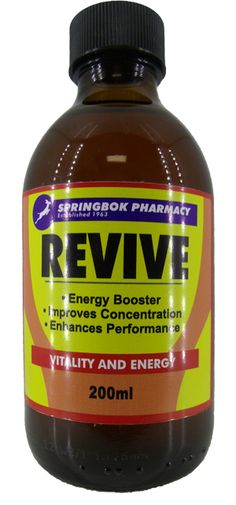 SPRINGBOK REVIVE ENERGY SYRP 200ML Energy Boosters, Pharmacy, Apothecary