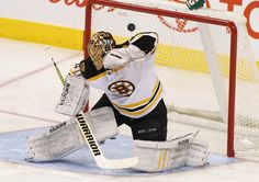 WINNIPEG, CANADA - FEBRUARY 17: Tuukka Rask #40 of the Boston Bruins ducks as a shot taken by Alexander Burmistrov #8 of the Winnipeg Jets flies past him into the net in NHL action at the MTS Centre on February 17, 2012 in Winnipeg, Manitoba, Canada. (Photo by Marianne Helm/Getty Images)