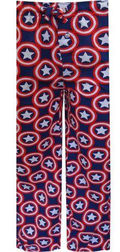 WebUndies.com Marvel Comics Captain America Bold Logos Lounge Pants