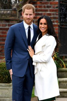 Prince Harry and Meghan Markle attended a photocall to announce their engagement at Kensin...