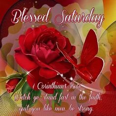 1 Corinthians (KJV) Watch ye stand fast in the faith ecard Good Morning Saturday, Good Morning Good Night, Happy Saturday, Saturday Quotes, Happy Morning, Sunday, Happy Bible Verses, Bible Quotes, Scriptures