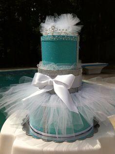 Tutu Diaper Cake Tiffany and Co Diaper Cake by CasitaDeCositas