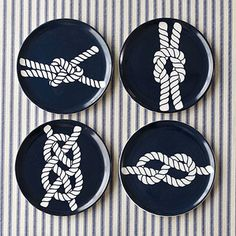 Nautical Knot Tasting Plate