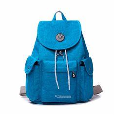 Sale 21% (19.99$) - Women Men Nylon Drawstring Backpack Waterproof School Students Bags Laptop Bags