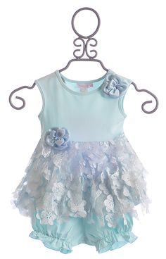 This one's for Coco! Cach Cach Infant Girls Dress in Blue - 24 Mos $44.33