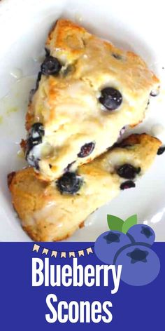 This Easy Blueberry Scones recipe makes the perfect breakfast bread. Made with fresh blueberries and drizzled with lemon icing. Learn how to make blueberry scones - they are so easy! #blueberryscones #sconesrecipe #brunchideas Brunch Recipes, Sweet Recipes, Breakfast Recipes, Breakfast Ideas, Brunch Ideas, Breakfast Time, Bread Recipes, Easy Recipes, Dessert Recipes