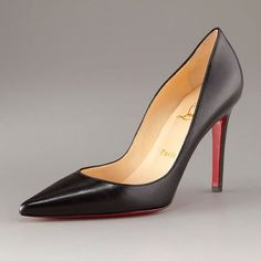 Christian Louboutin  Mignonne Caged Open-Toe Red Sole Bootie Black by Christian Louboutin at Neiman Marcus.