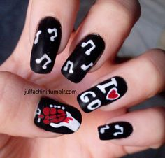 I love green day Green Day, Hair And Nails, My Nails, Band Nails, Music Nails, Manicure, Nail Polish Art, It Goes On, Cute Nail Designs