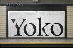 Plakatdesign Suchergebnisse › PAGE online Type Design, Book Design, Layout Design, Web Design, Graphic Design, Signage Design, Clean Design, Lettering Design, Yoko Ono