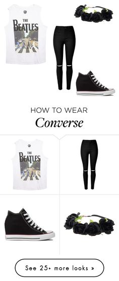 """""""outfit"""" by peace-girl23 on Polyvore featuring Converse, Wet Seal, women's clothing, women, female, woman, misses and juniors"""